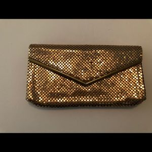 Vintage Whiting and Davis Evening Clutch Gold Mesh